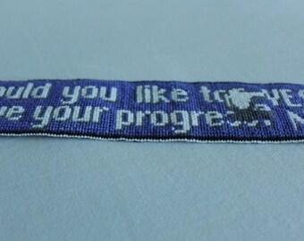 Save your progress - Cross Stitch bookmark - PATTERN ONLY