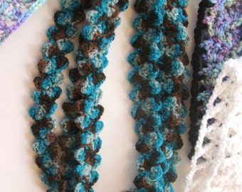 crochet PATTERN - Make Easy PEBBLE Stitch Headbands and Scarfette from Leftover Yarn - scrap project crochet pattern