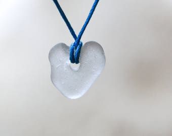 White beach glass heart necklace pendant beach glass jewelry women pendant necklace white sea glass heart necklace genuine seaglass jewelry