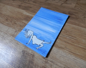 Submerged - A6 Original Canvas Art