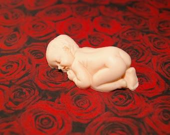 sleeping baby in Polymer Clay figurine