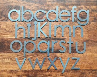 "Modern 2"" Lowercase | Laser Cut Metal Letters"