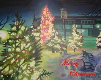 Original Art Christmas Card