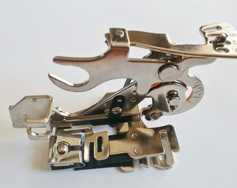 ruffler sewing machine attachment foot adjustable for low shank sewing machines