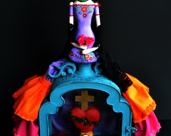 Frida - Frida Kahlo - Custom Art Doll - Mexican Art
