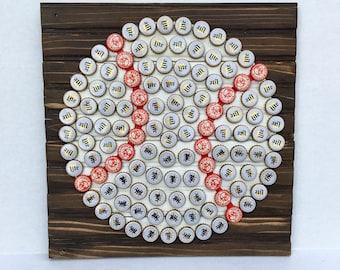 Baseball Bottle Cap Wall Art