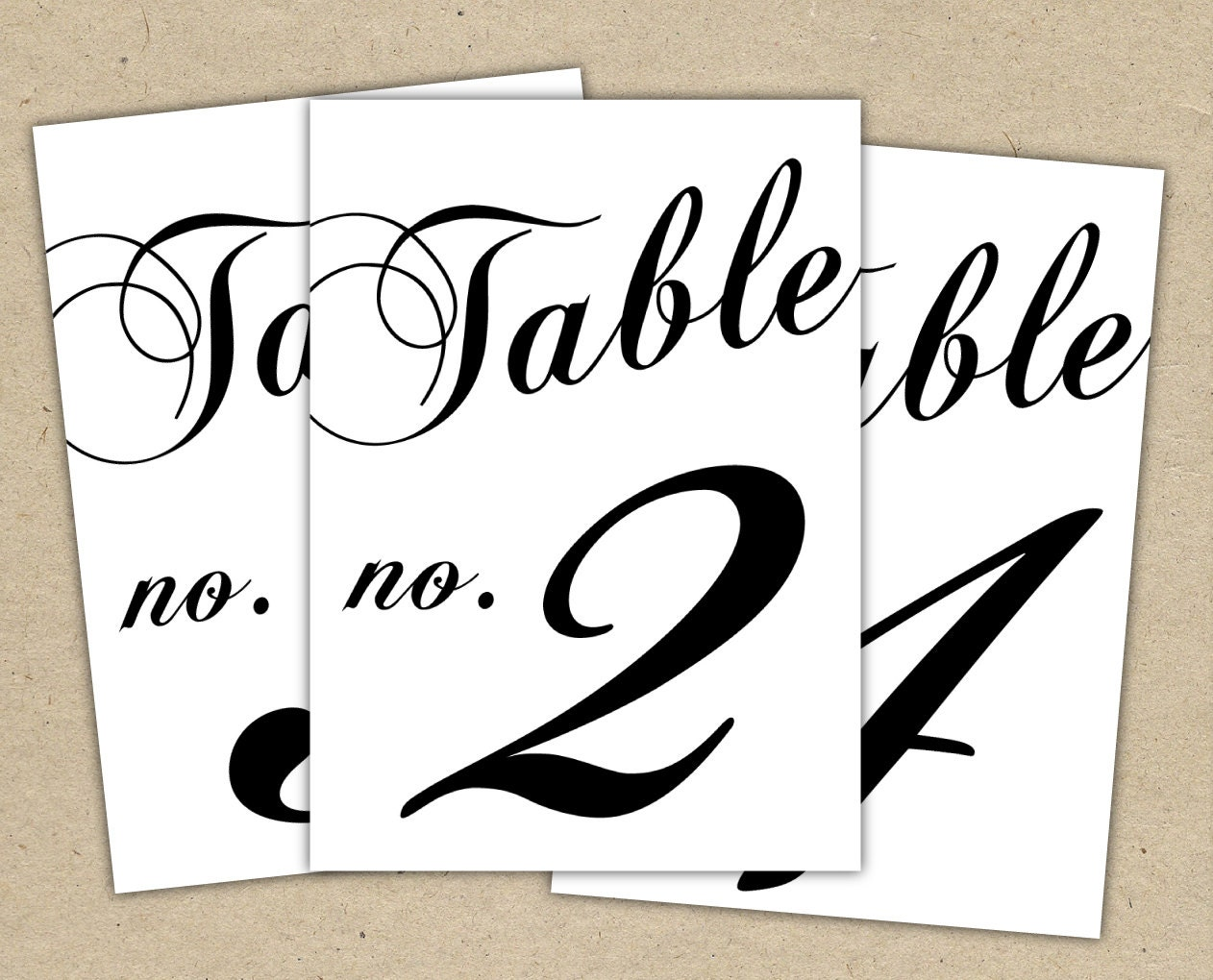 Black Table Numbers Printable Template Instant Download - Wedding table numbers template