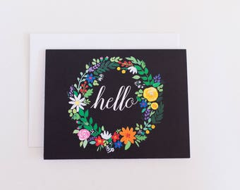 Hello Floral Note Cards