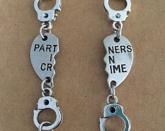 Partners in Crime Handcuff Bracelet Set