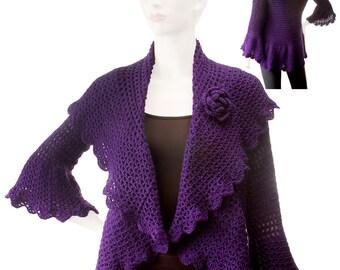 Crochet Pattern Boboletta Cocoon Sweater pdf