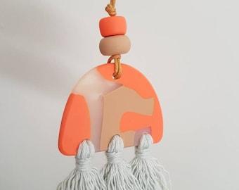 Polymer Pendant Tassel necklaces