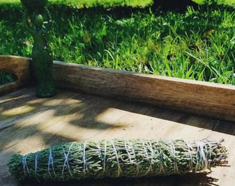 "Wild Crafted on the Solar Eclipse Cedar Smudge Stick- Cedar Smudging Wand - Cedar Incense - Natural Incense - smudge - 7-9"" smudge stick"