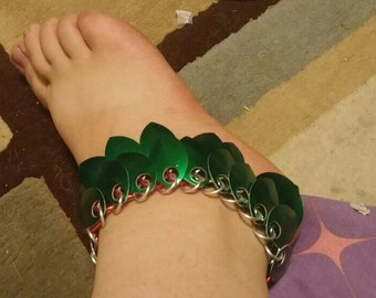 Chainmail Scaled Hawaii Ankle Bracelet