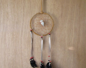 Vintage Dream Catcher Rawhide and Arrow Head Native American Southwestern Home Décor Decorative Wall Hanging