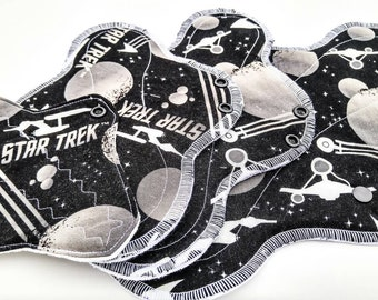 Mama Cloth ~ Cloth Pads ~ Incontinence Pads ~ Cloth Panty Liner ~ Cloth Pad Sets, Washable Cloth Pad, Reusable Panty Liner, Star Trek Pads.