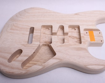 BYOGuitar 3 Piece Swamp Ash Guitar Body  Unfinished