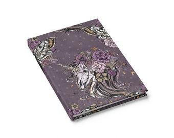 Zombie Unicorn Journal  Ruled Line