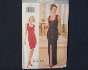 Butterick 4292 Nicole Miller Fitted Dress Pattern Uncut size 6 - 8 - 10 - 12