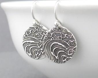 Sterling Silver Dangle Earrings Silver Earrings Summer Outdoors Beach Jewelry Ocean Jewelry Beach Jewelry Nautical Jewelry - Unique Petites