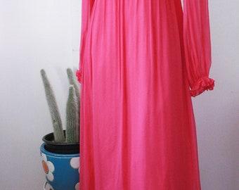 60s Magenta Maxi Dress - XS/S