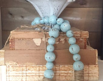 Farmhouse Beads | Farmhouse Decor | Home Decor Beads | Wood Beads | Wood Bead Garland