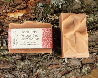 Apple Cider Vinegar Shampoo Bar - Solid Shampoo Bar - All Natural Shampoo - Organic Palm Free Vegan Shampoo - Zero Waste Shampoo Soap