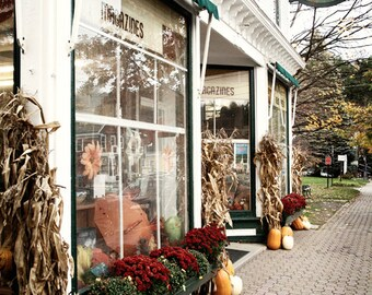 Small Town photograph - Variety store, New England photography, Vermont, Stowe, fall, store front, main street