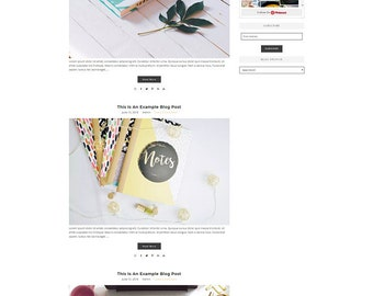 Responsive Wordpress Theme Magnolia - Genesis Child Theme - Wordpress Template - Wordpress Blog - Blog Design