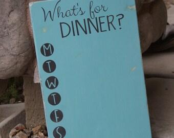 What's for dinner?  Chalkboard menu board