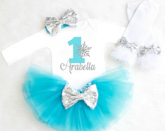 Frozen Birthday Outfit Winter Birthday Outfit Onederland Birthday Outfit Winter Wonderland Outfit Snowflake Birthday Outfit Blue Silver 23