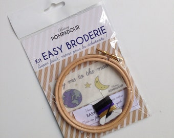 fly me to the moon - Kit EASY BRODERIE