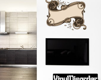 Ornate Scroll Wall Decal - Wall Fabric - Vinyl Decal - Removable and Reusable - ScrollOrnateUScolor009ET