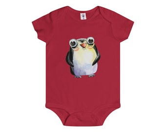 Onesie Rolly Poly Penguin Friend Infant Baby Shower Gift