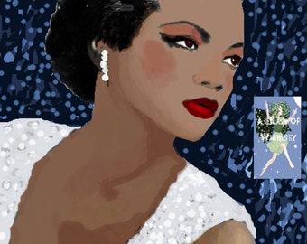 Eartha 1940's / Can be purchased as an ATC Trading card or a Giclee Print in 3 sizes