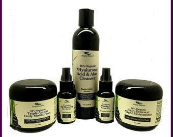 Organic Skin Care Trial Set - Get a sample set of our top 5 sellers to try before you buy with BONUS Mask