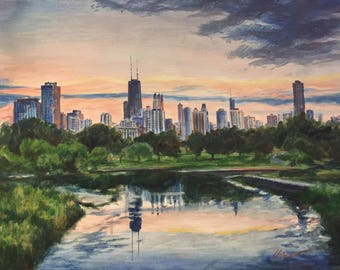 Serene Chicago from Lincoln Park