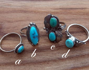 sterling silver & turquoise ring !