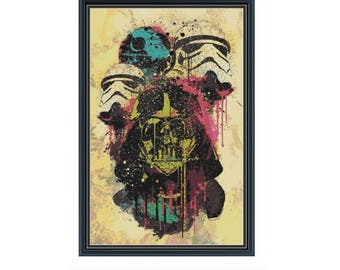 The Dark Side Spray Paint Cross Stitch