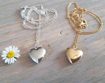 Necklace Heart Locket memories