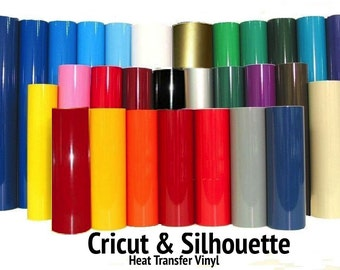 """Heat Transfer Vinyl 15"""" x 5 Feet-30+ COLORS, made for Silhouette Cameo, Cricut, Decals - FREE SHIPPING!!!"""