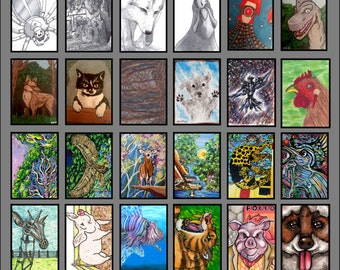 Animals - FrantixMedia: ArtFrantix Collection Sketchcard Collection