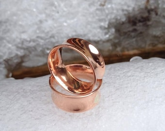 Double Flared Copper Ear Tunnels/Gauges