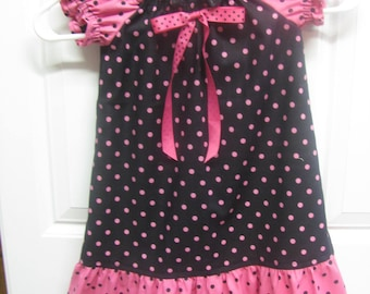 Polka Dotted Pillowcase Dress