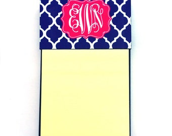 3 - Monogram Sticky Note Holders | Personalized Post-it Note Holder