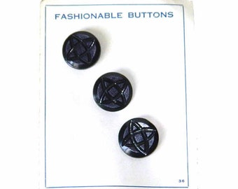 Vintage 1930's Blue Art Deco Buttons