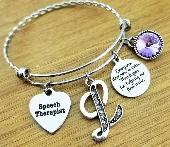 Speech Therapist Gift Speech Therapy Gifts Speech Language Pathologist Gift Speech Therapist Bracelet Gift for Speech Therapist