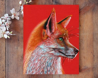 Fox print, PRINTABLE art, Fox wall art, Nursery decor, Animal art, animal prints, Nursery wall art, Woodland animal prints, kids art