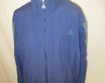 Vintage 80s Le Coq Sportif blue size M jacket