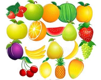 Fruit clipart Cute clipart Fruit clip art Food clipart cute clip art Health clipart healthy clipart Vegetarian clipart vegan clipart