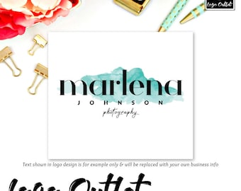 Watercolor Premade Logo Design - Includes files for Web and Print + Watermarks! Perfect for Boutique, Photographer, Designer + much more!
